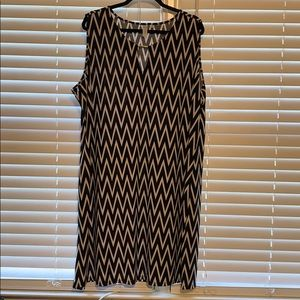 Chevron Dress 3X
